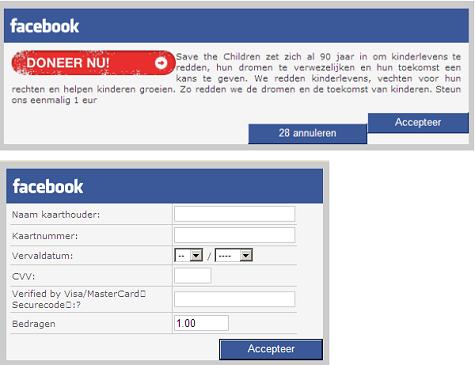 facebook goede doel installeert trojan